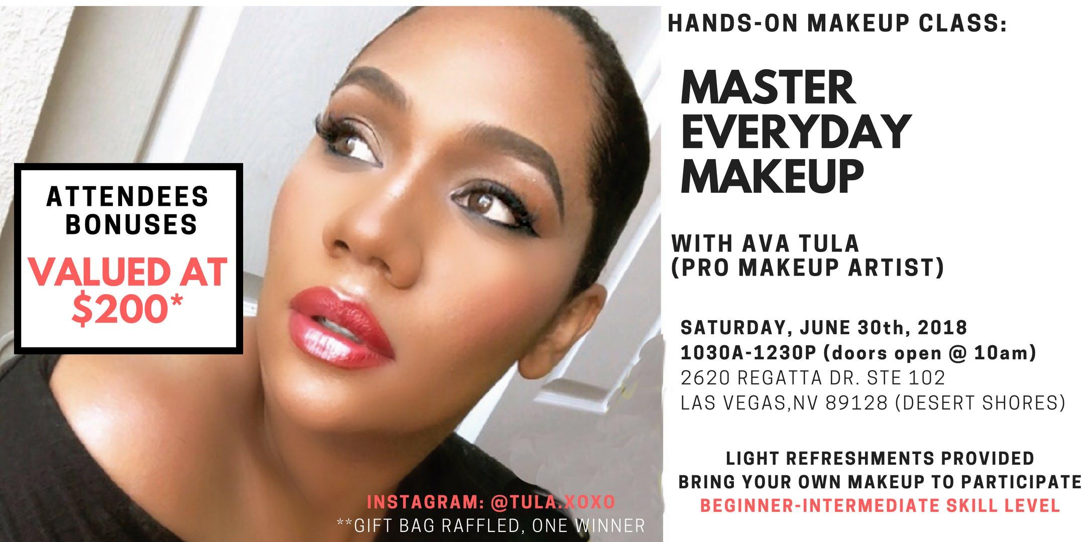 Las Vegas Makeup Class Saubhaya
