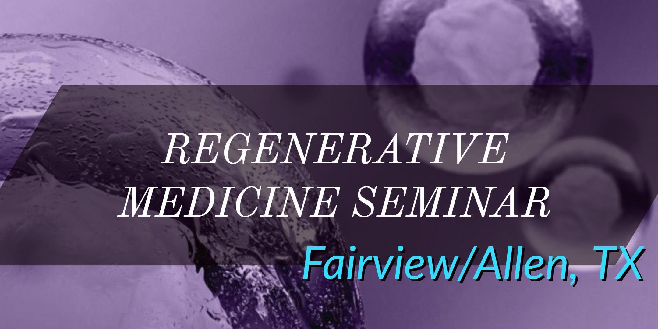 FREE Regenerative Medicine & Stem Cell for Pa