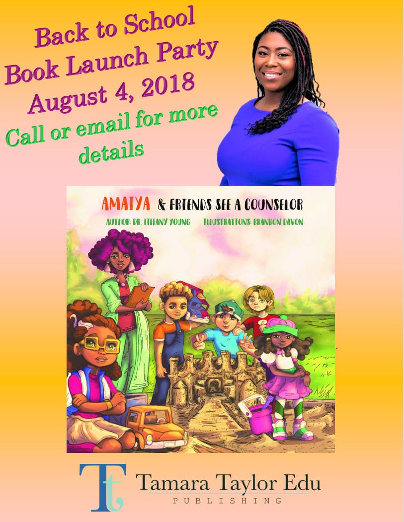 Amaiya Friends See A Counselor Book Launch Party For Girls K 3rd