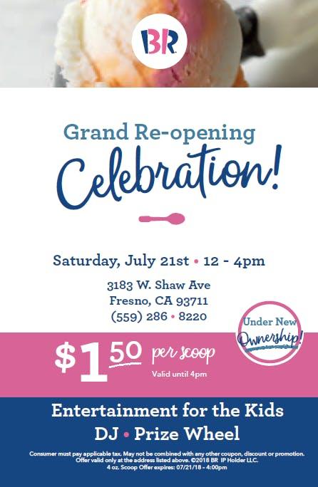 Baskin Robbins Grand Re Opening Celebration 21 Jul 2018