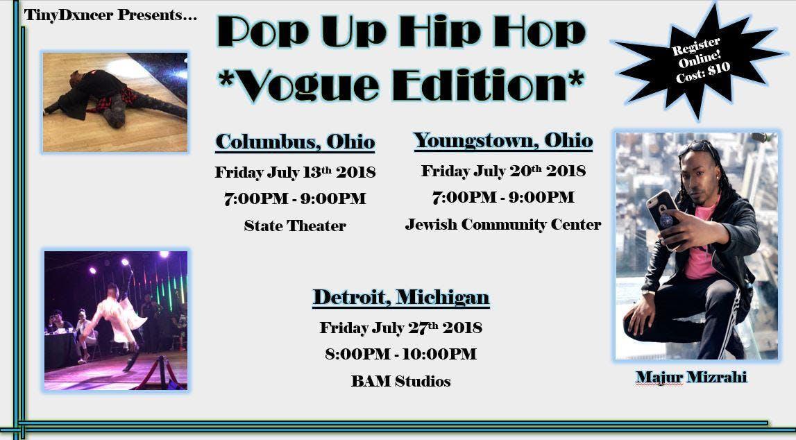 Pop Up Hip Hop Vogue Edition Detroit Mi 27 Jul 2018