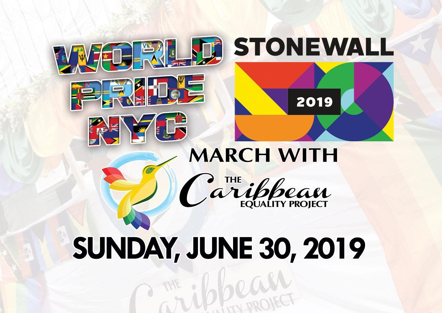 NYC WorldPride 2019 - March with Caribbean Equality Project