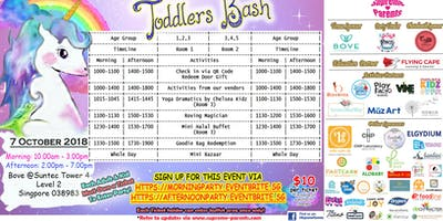 aFterNoon ticket- Toddlers Bash x October 2018