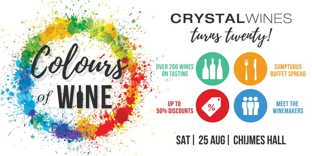 Image result for Colours of Wine: Crystal Wines 20th Anniversary Mega Wine Party