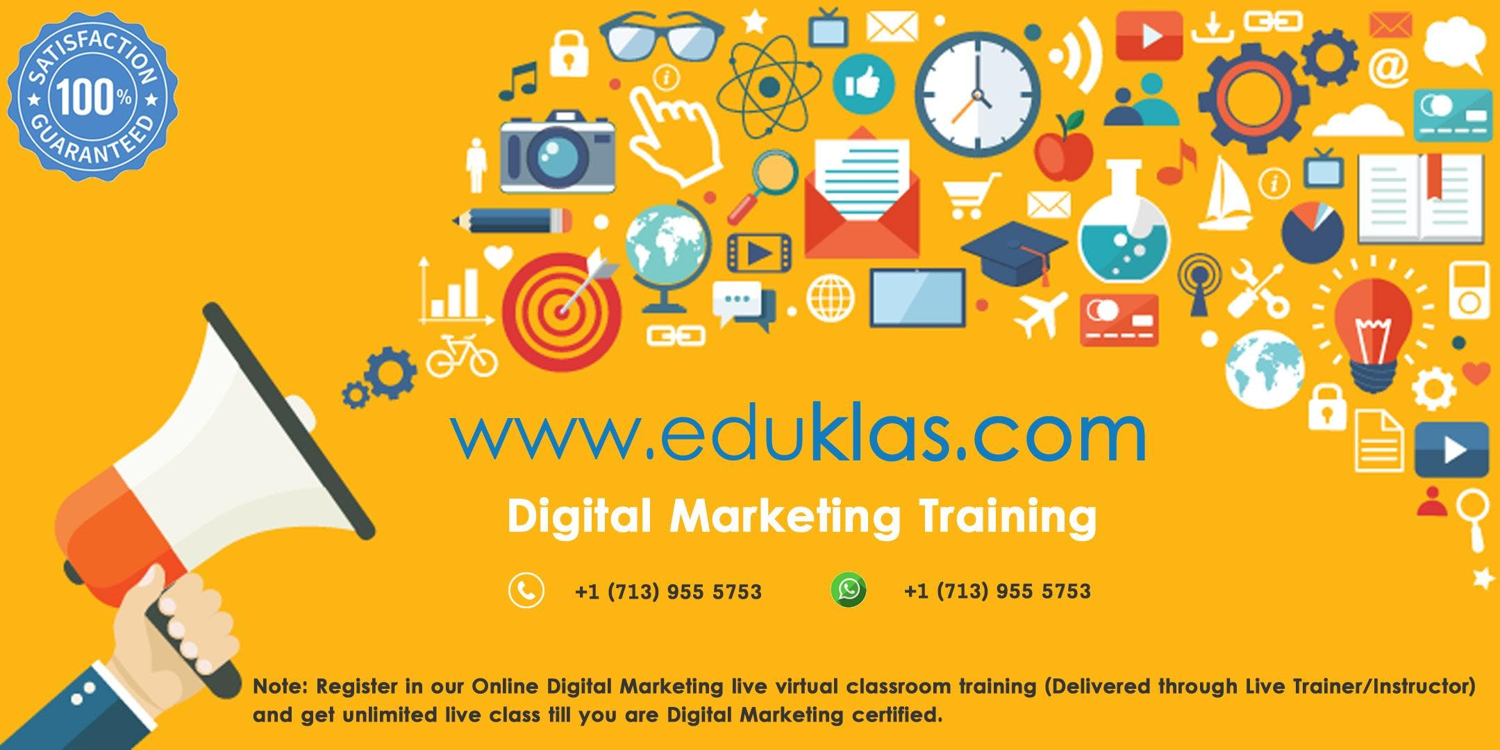 Digital Marketing Live Virtual Classroom Training in Peoria, AZ | Eduklas