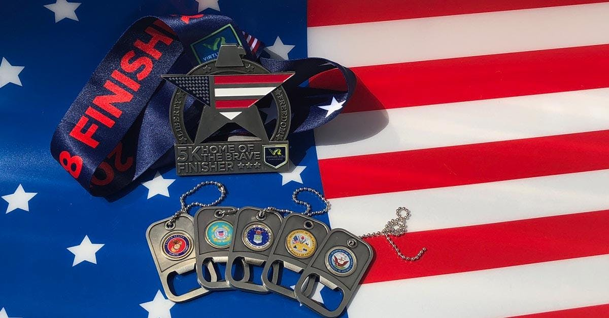 Home of the Brave Virtual 5k Run Walk - Mesa