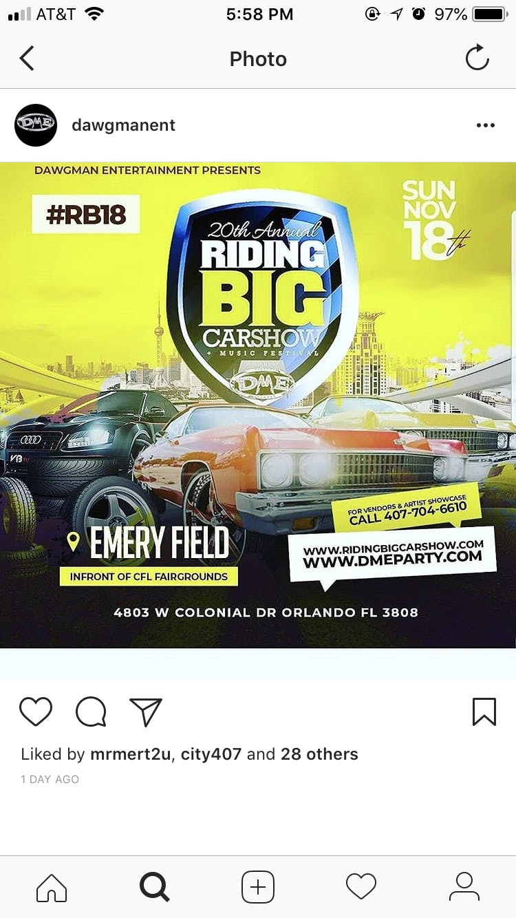 Th Annual Riding Big Carshow AUG - Central florida fairgrounds car show