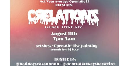 Open mic tickets multiple dates eventbrite not your average open mic ii crelationz launch event nyc tickets malvernweather Gallery