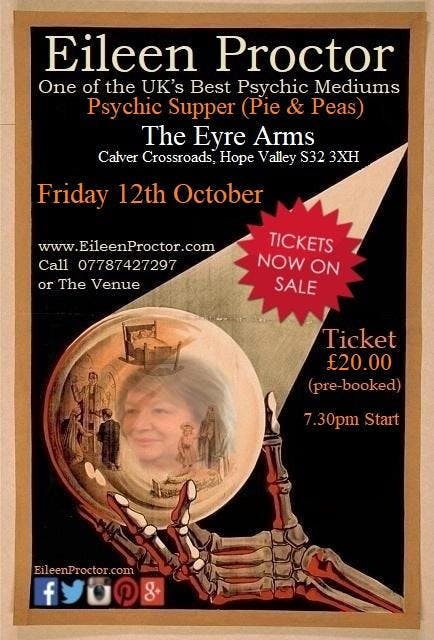 The Eyre Arms (Calver) Psychic Supper - Eilee