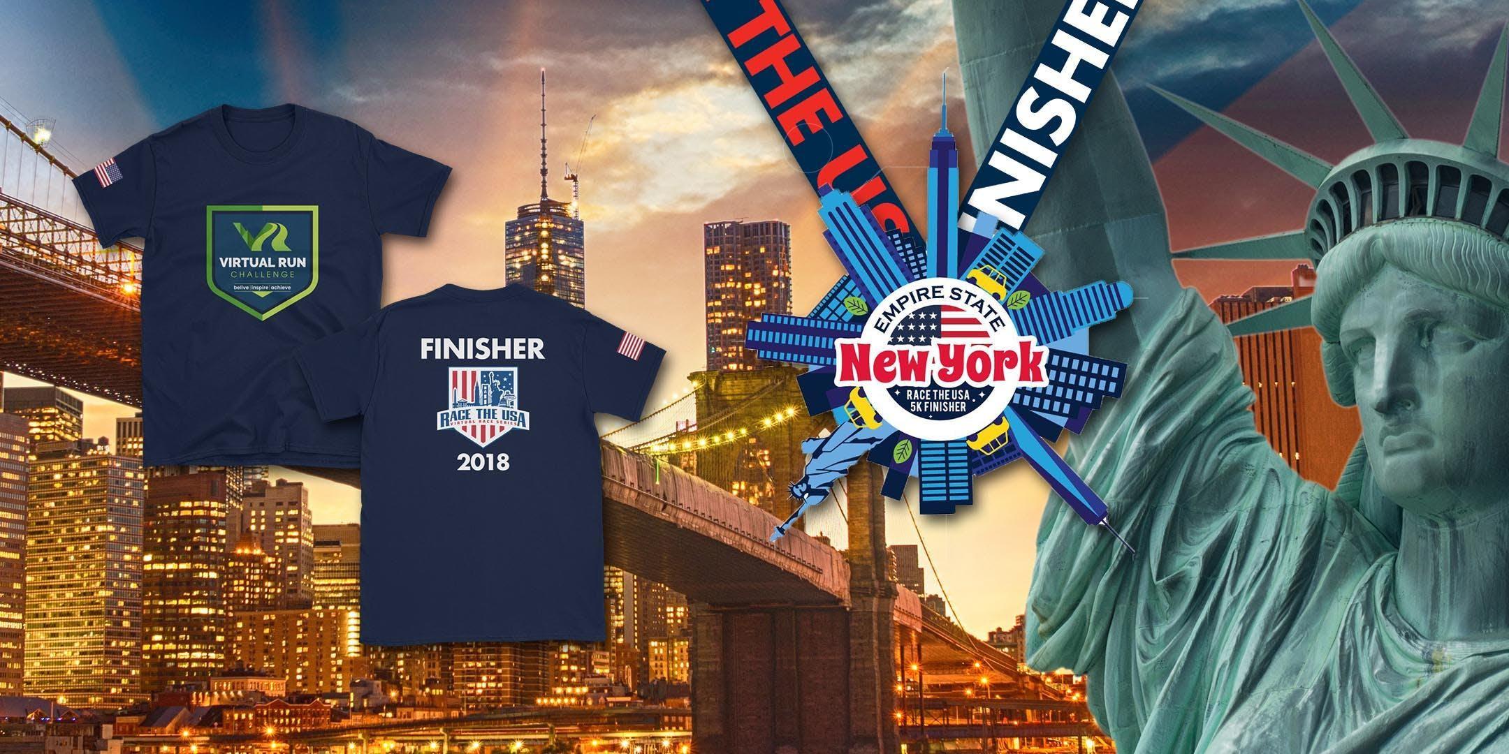 Race the USA  New York Virtual 5k Run/Walk - New York