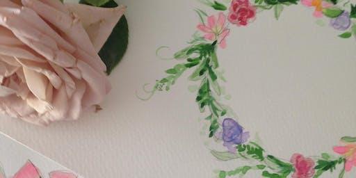 Beginners: Watercolour Floral Wreaths