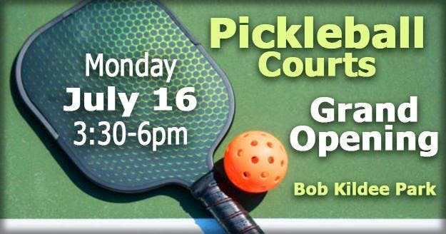 Pickleball Courts Grand Opening