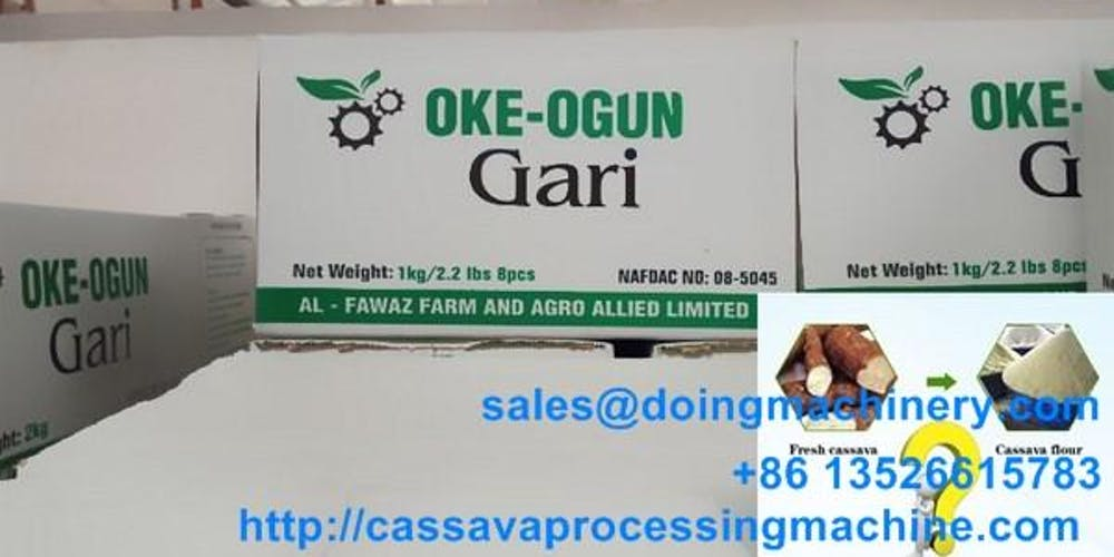 China Doing Company garri production machine delivery to Nigeria