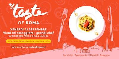 TASTE OF ROMA 2018 _ sessione B2B venerdì 21/9 pranzo