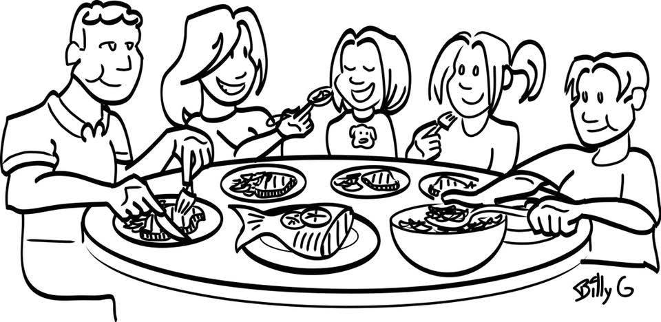 family eating clip art - 1123×548
