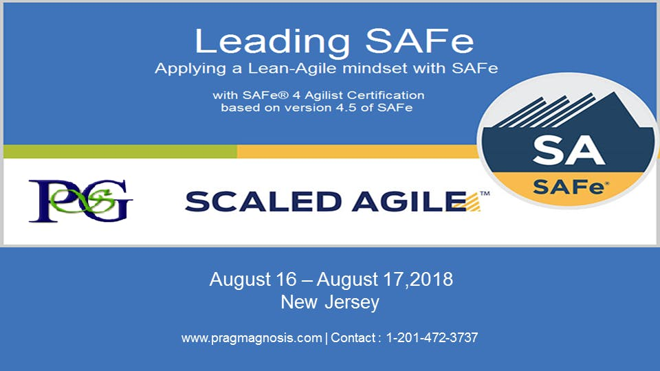 Leading Safe 45 With Safe Agilist Sa Certification New Jersey