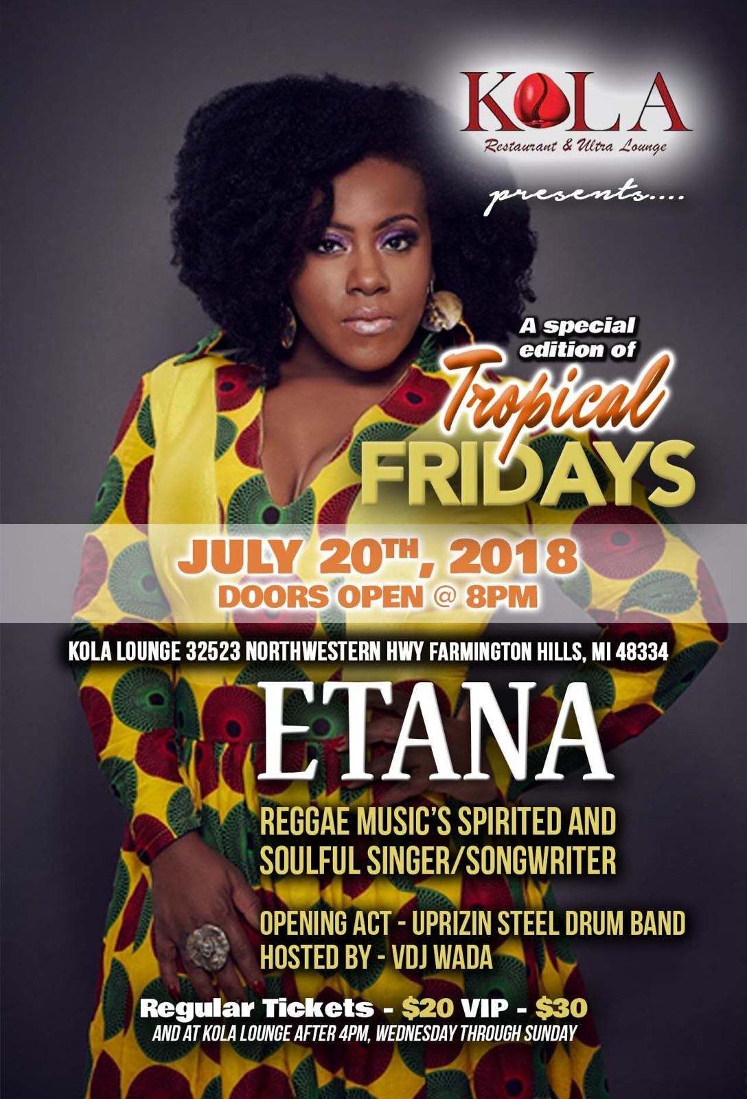 ETANA RETURNS TO METRO DETROIT