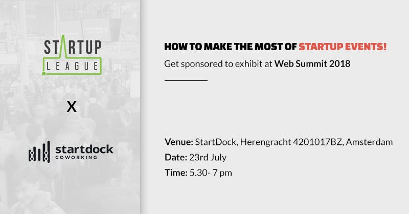 How to make the most of startup events! Get s