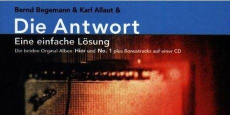Die Antwort |Bernd Begemann Plattenreihe Tickets