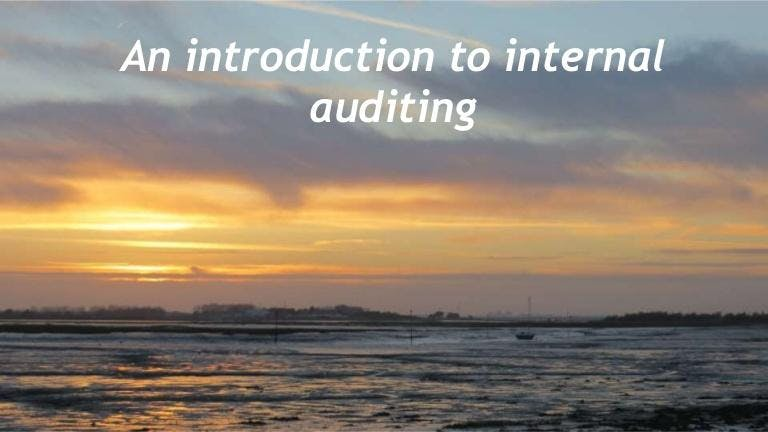 Internal Audit 101: Introduction to Internal