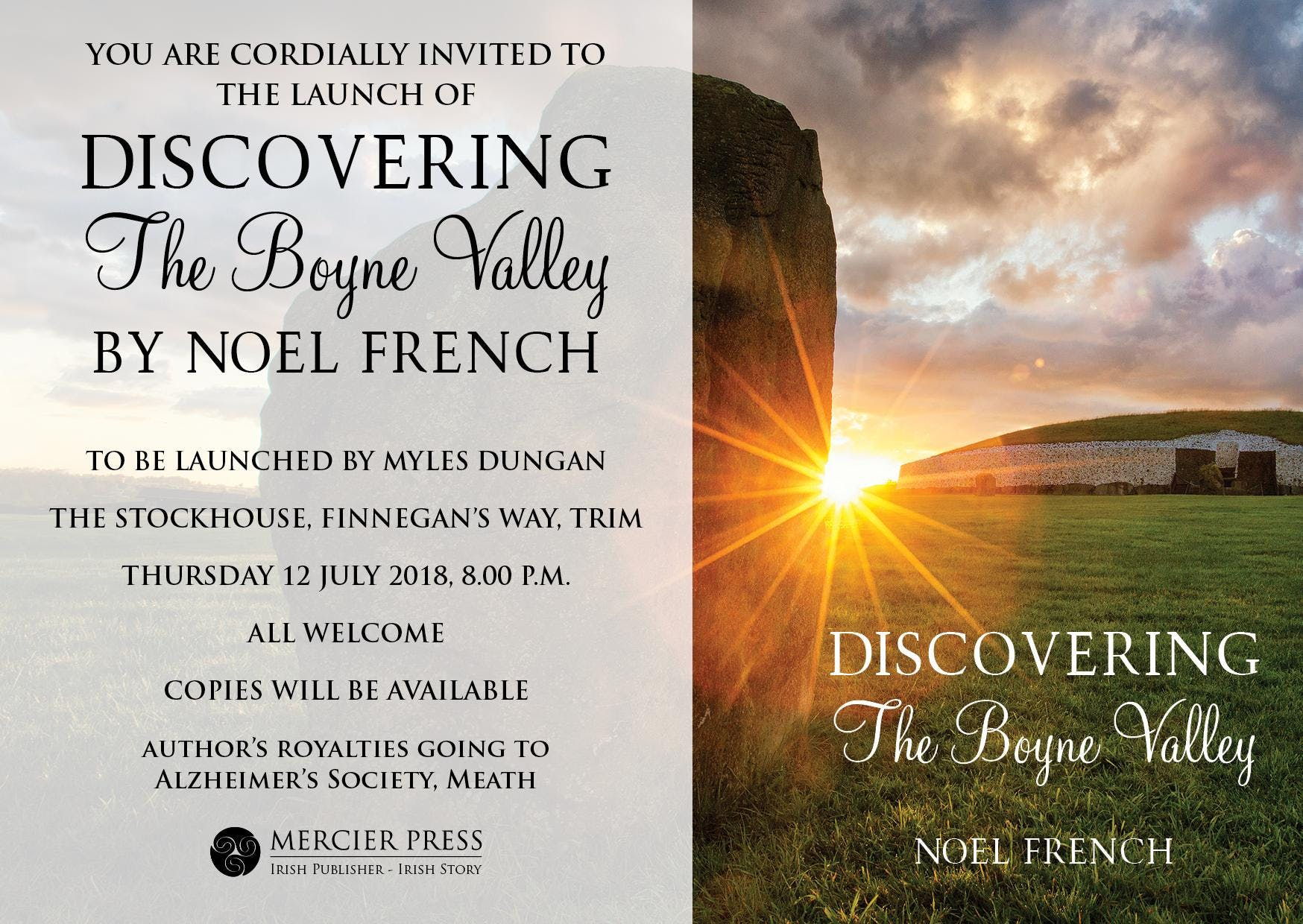 Book Launch - 'Discovering the Boyne Valley' by Noel French