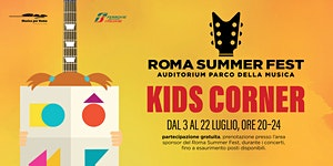 Kids Corner gratuito durante il concerto di Francesco D...