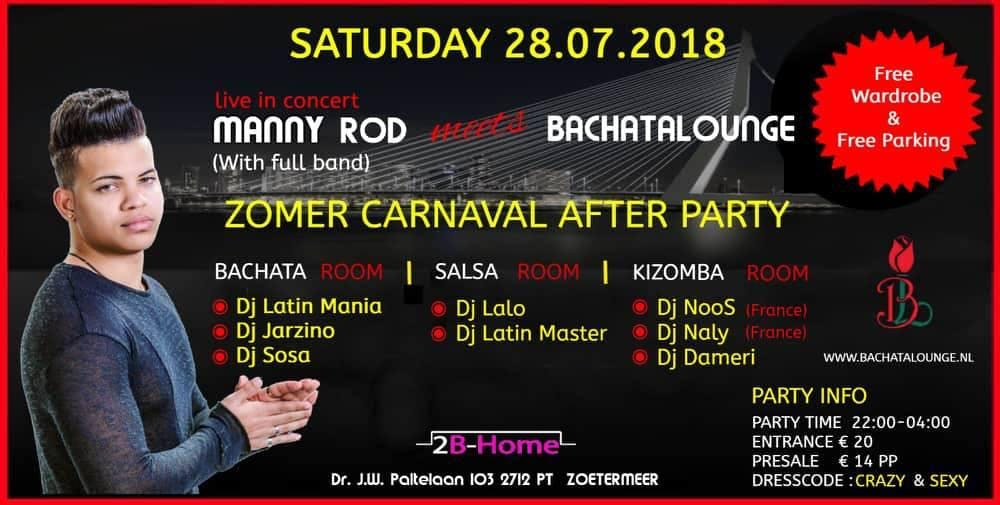 ZomerCarnaval Afterparty -Manny Rod & full ba