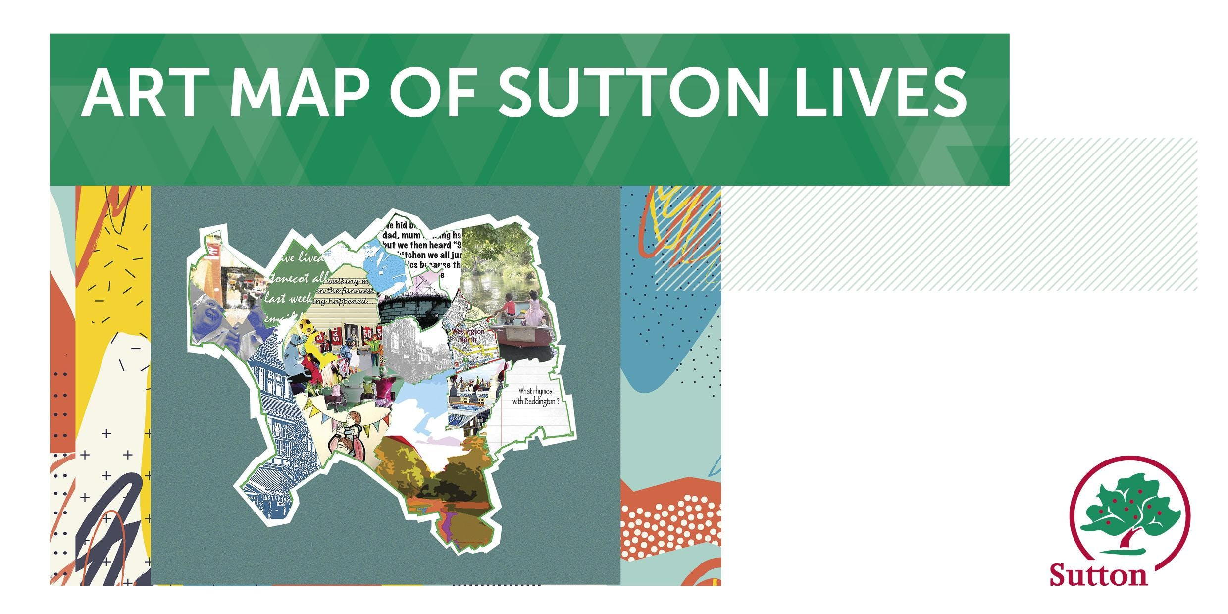 Art Map of Sutton Lives at Sutton Library- m