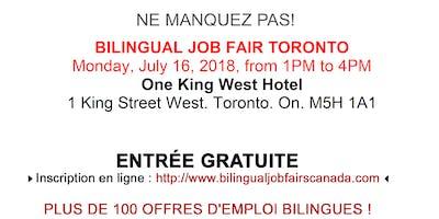 Bilingual Job Fair Toronto - September 10th 2018