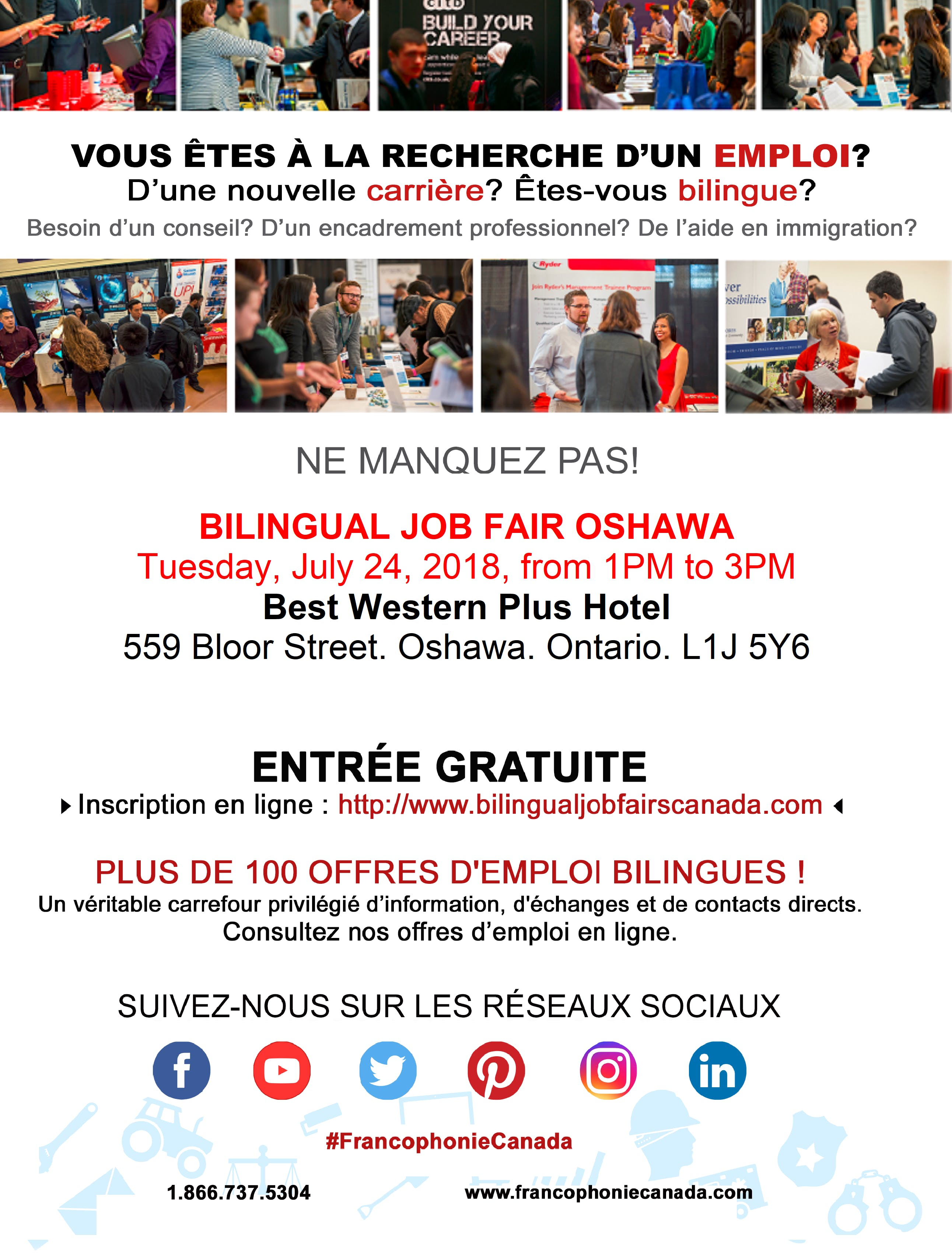 Bilingual Job Fair Oshawa - September 6th, 20