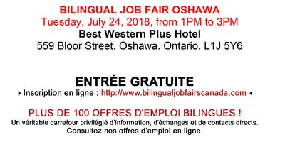 Bilingual Job Fair Oshawa - September 6th, 2018