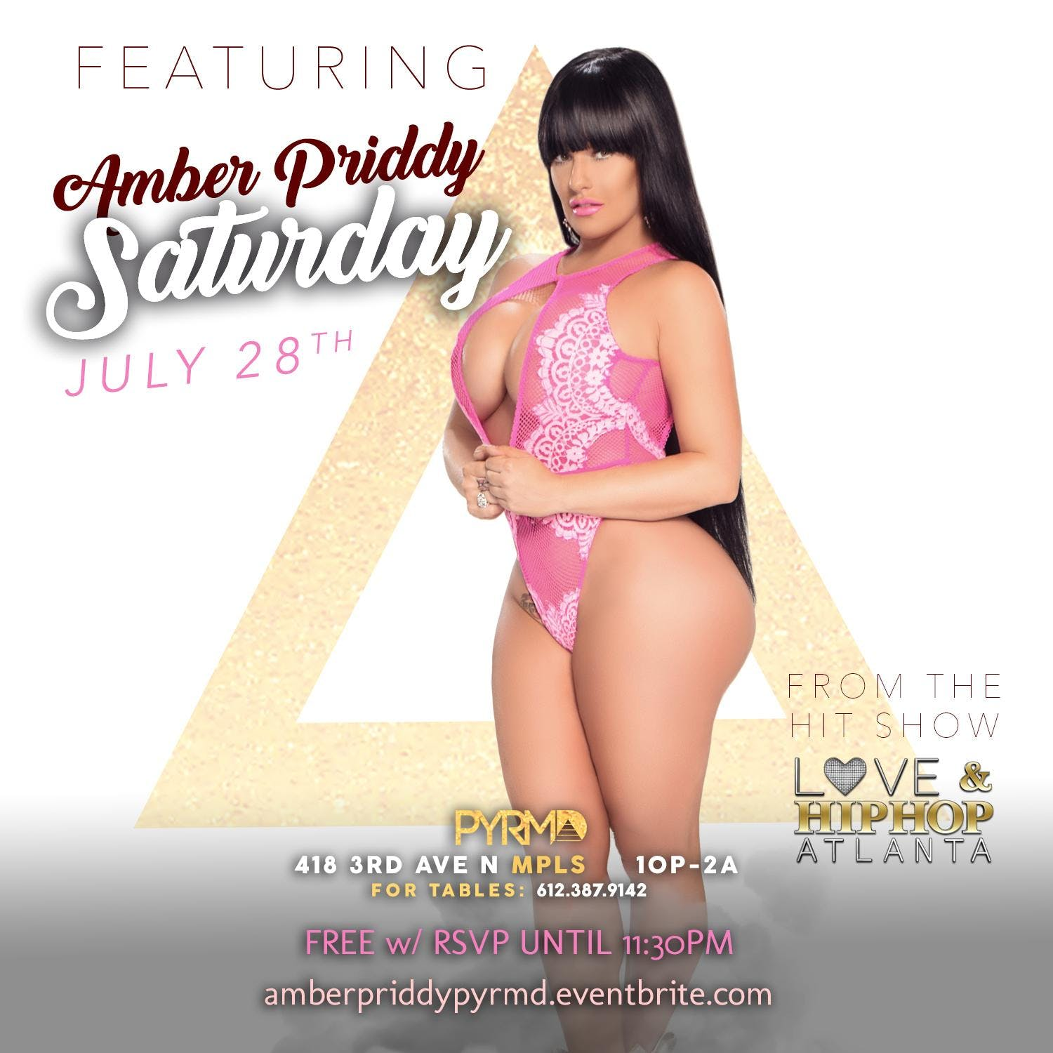 PYRMD Presents LHHATL's Amber Priddy July 28t