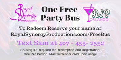 Free Party Bus With Royal Synergy Productions