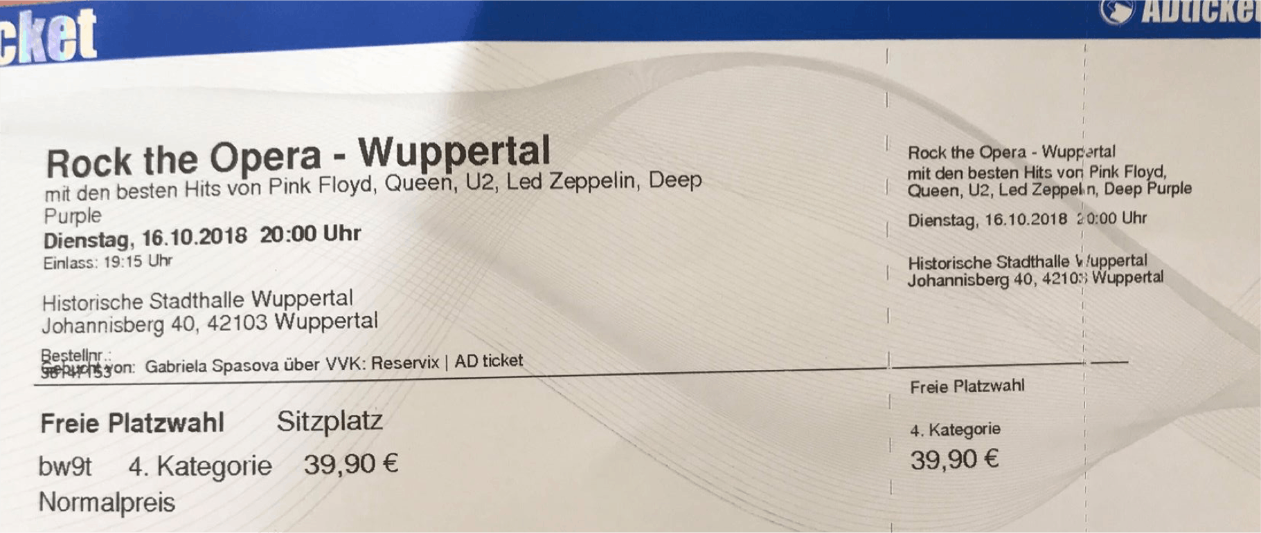 Rock the opera- Wuppertal