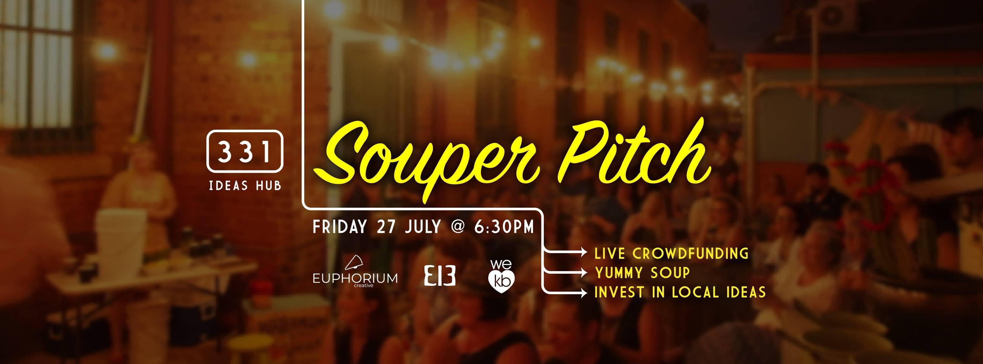 Souper Pitch - Live Crowdfunding
