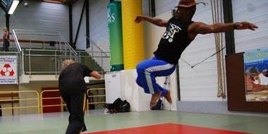 Capoeira avecle groupe Raizes Brasil Armorique