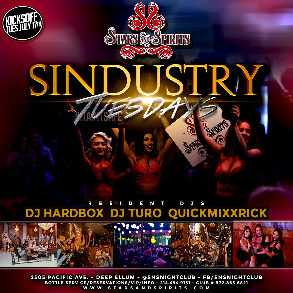 Sindustry Tuesdays at Stars & Spirits