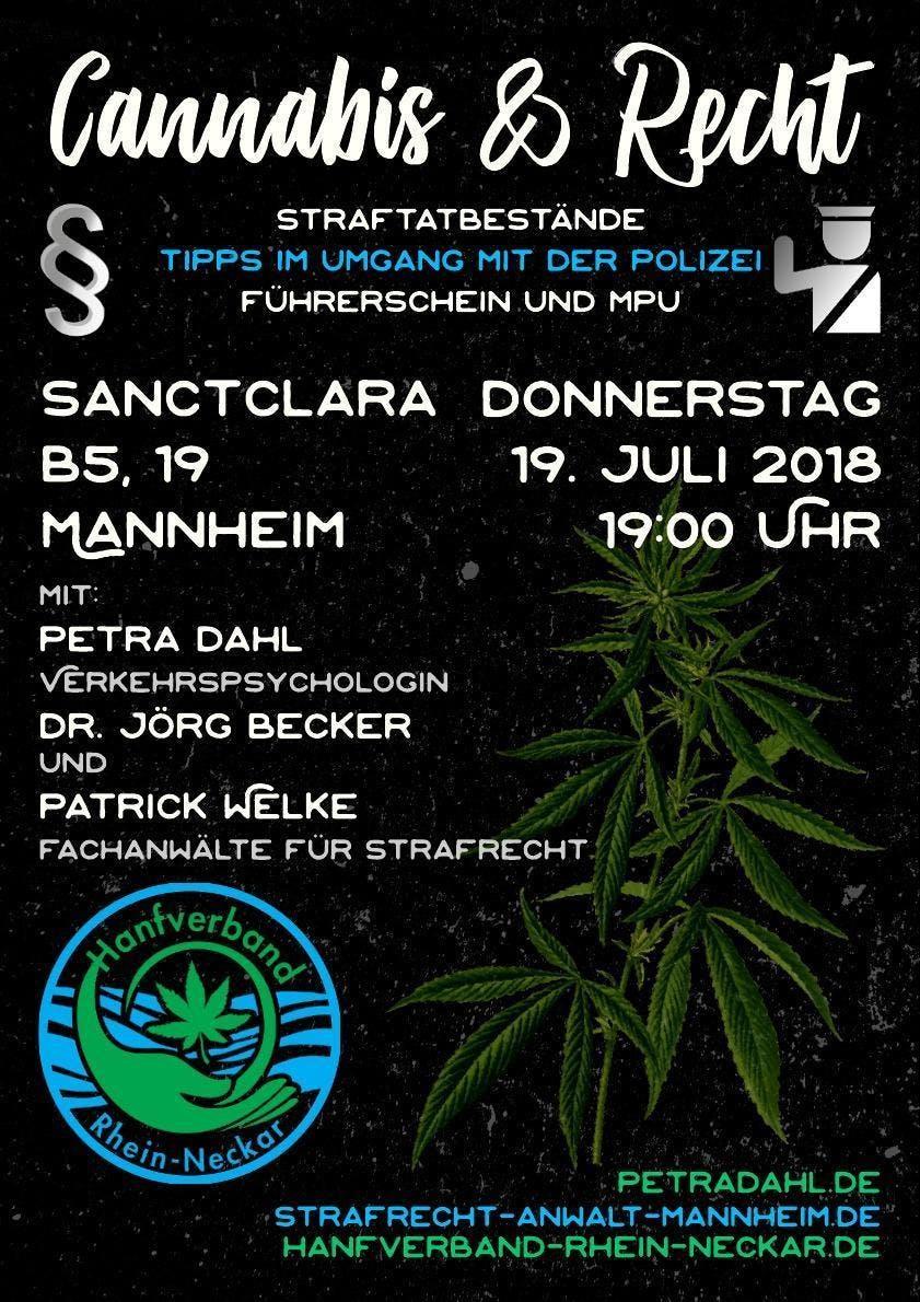 Cannabis und Recht - Infoveranstaltung in Man