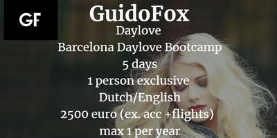 Daylove - Exclusive one to one Barcelona Bootcamp (NL/EN) - max 1 / year