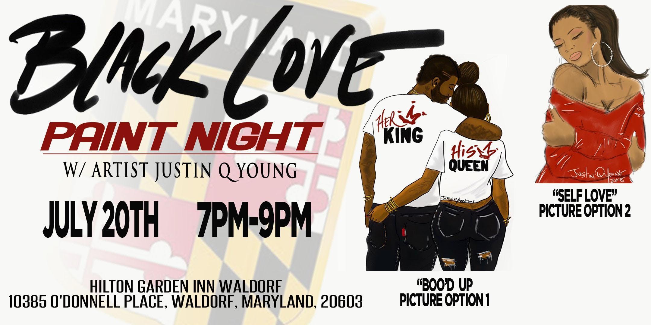 black love paint night - Hilton Garden Inn Waldorf