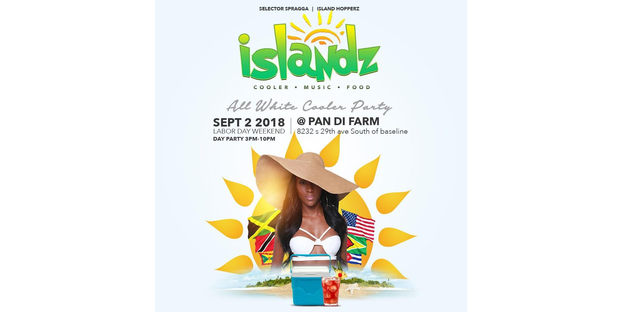 ISLANDZ AZ ALL WHITE COOLER PARTY