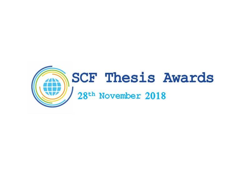 SCF Community Thesis Award 2018