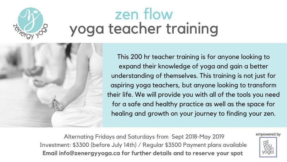 Zen Flow 200hr Yoga Teacher Training
