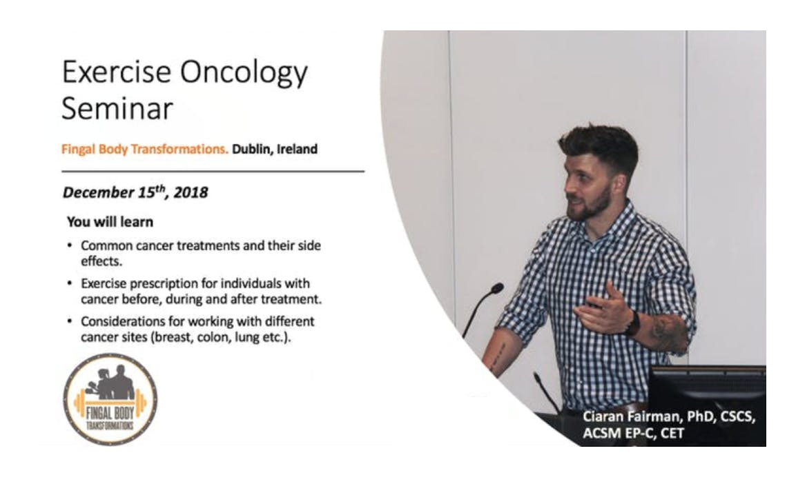 Exercise Oncology Workshop: Training cancer patients and survivors.