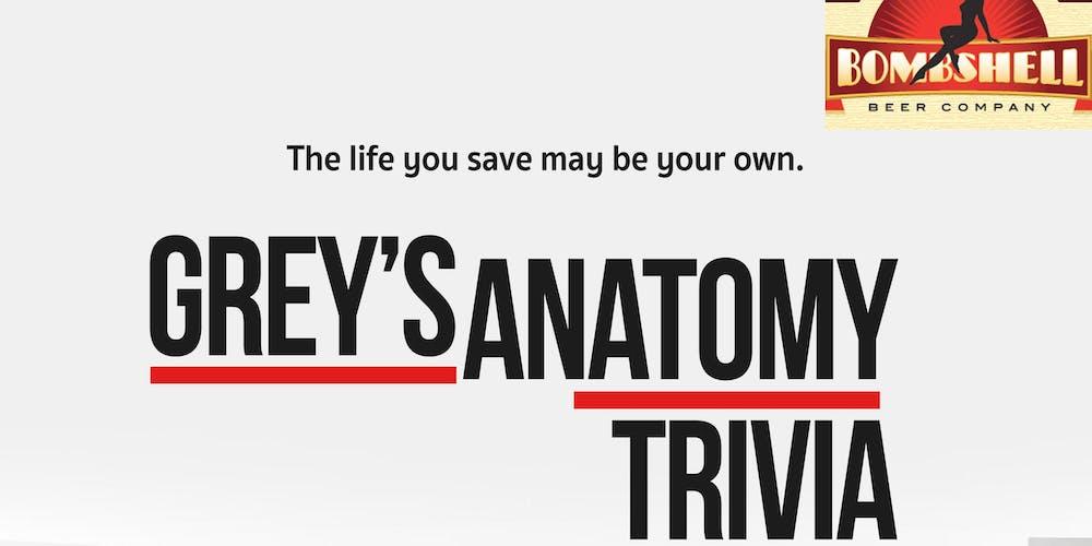 Grey\'s Anatomy Trivia @ Bombshell Beer Tickets, Tue, Aug 21, 2018 at ...