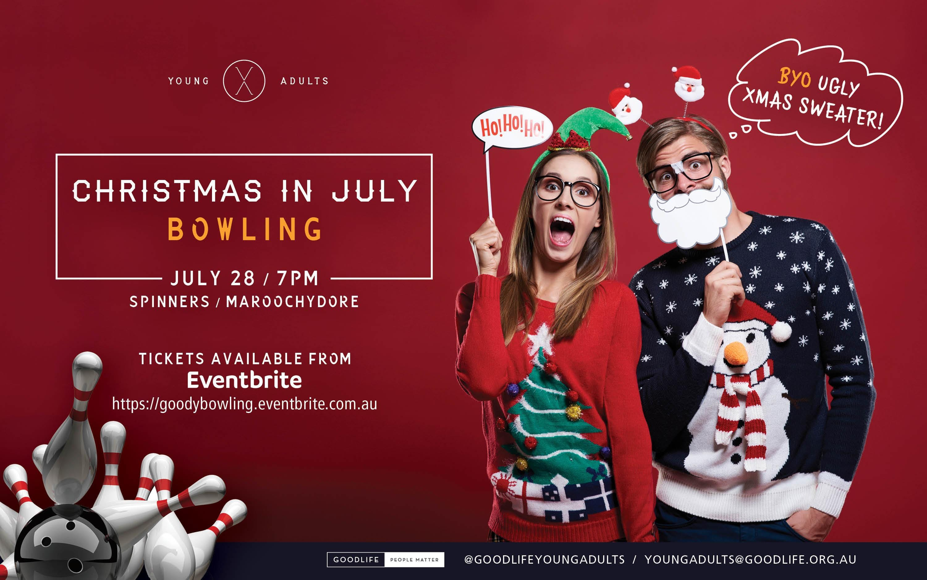 christmas in july bowling 28 jul 2018