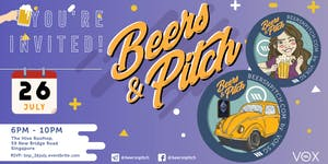 Beers&Pitch July Alfresco: 26 July 2018