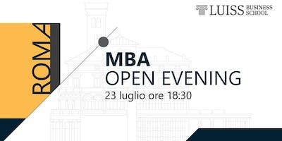 Open Evening LUISS MBA – 23 Luglio, 18.30