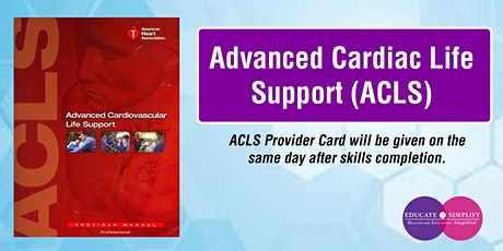 Advanced Cardiac Life Support (ACLS) tickets