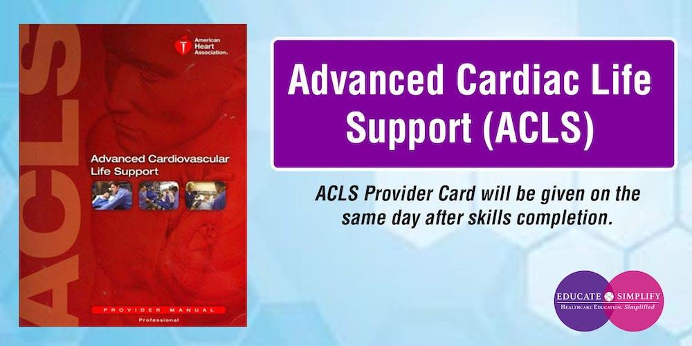 Advanced Cardiac Life Support ACLS Tickets Sun Aug 25